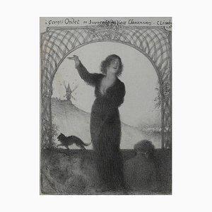Charles Lucien Léandre - Georges Ondet - Original Lithographie - 1922