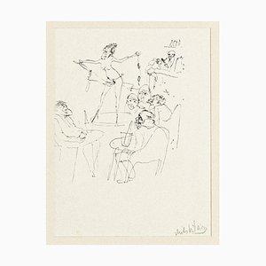 Zwy Milshtein - Figuren - Original Zeichnung - spätes 20. Jahrhundert