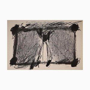 Antoni Tàpies - in Two Blacks - Original Lithographie - 1968