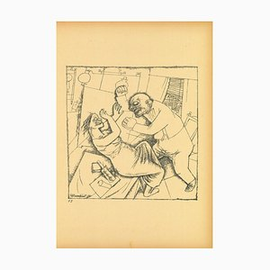 George Grosz - Fight from Ecce Homo - Original Lithograph - 1923