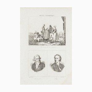 Unknown - Kostüme und Portraits - Original Lithographie - 19. Jahrhundert