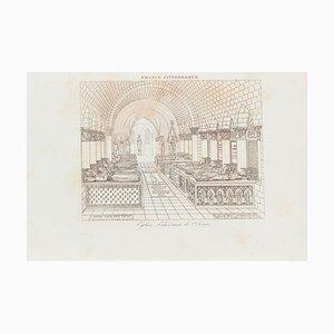 Unknown - Beerdigung - Original Lithographie - 19. Jahrhundert