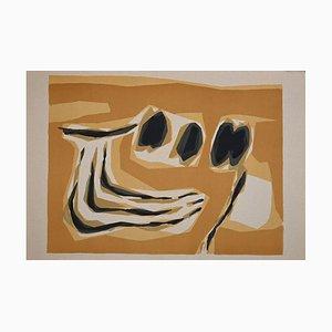Raoul Ubac - Orange Composition - Original Lithograph - 1963