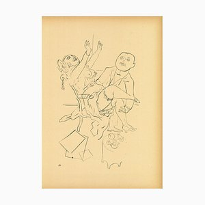 George Grosz - Happiness from Ecce Homo - Original Lithograph - 1923