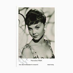 Inconnu - Portrait autographié de Hannelore Choice - 1960s