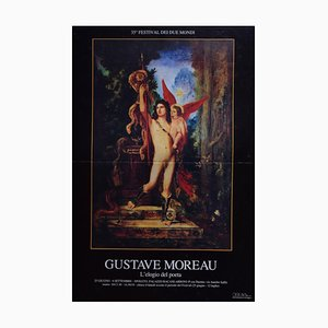 after Gustave Moreau - the Praise of the Poet - Vintage Exhibition Poster - 1993