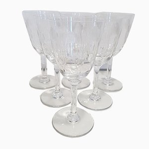 Antique Crystal Molière Water Glasses from Baccarat, 1920s, Set of 6