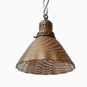 Vintage Gold Mercury Shade Pendant Lamp by X-Ray