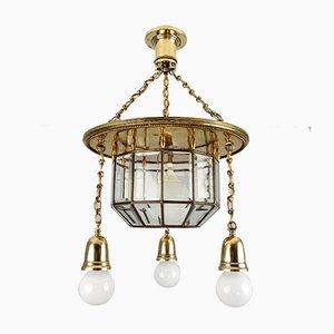 Antique Viennese Art Nouveau Josef Hoffmann Style Ceiling Lamp