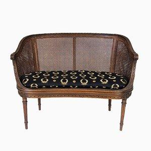 Antique Napoleon III / Louis XVI Style Banquette Sofa