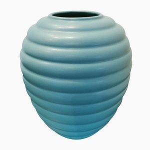 Blaue Vintage Vase von Saint Clément France