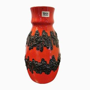 Deutsche Vintage Fat Lava Vase von Bay Keramik
