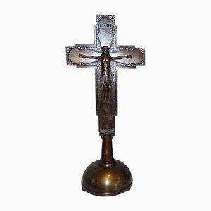 Art Nouveau Standing Cross, Brass