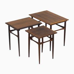Mid-Century Rosewood Nesting Tables by Arne Hovmand-Olsen, Set of 3