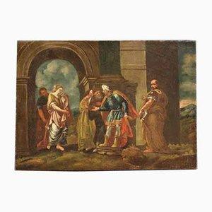 Antike Malerei aus dem 18. Jahrhundert '' Urteil von Susanna ''