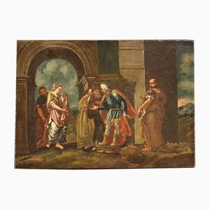 Antique Painting from the 18th Century ''judgment of Susanna''