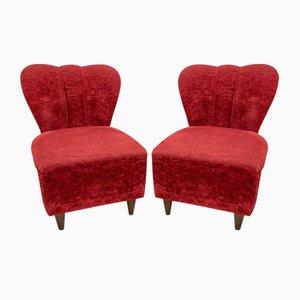 Italian Art Deco Lounge Chairs by Guglielmo Ulrich, 1940s, Set of 2
