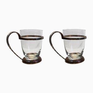 Glasschalen von Krupp Milano, 1950er, 2er Set