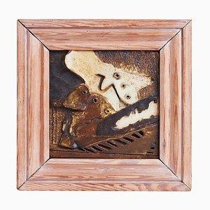 Kubistische Wandtafel aus Keramik
