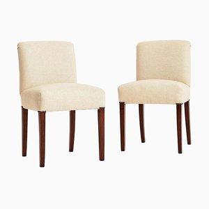 Art Deco Slipper Side Chairs, 1930s, Set of 2
