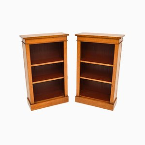 Antique Maple Bookcase, 1980s, Set of 2