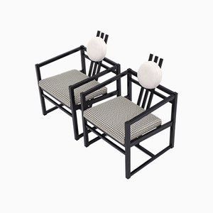 Vintage McIntosh or Rietveld Style Lounge Chairs, Set of 2