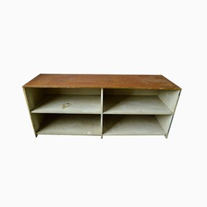 Industrielles Sideboard aus Holz mit Regalen, 1950er