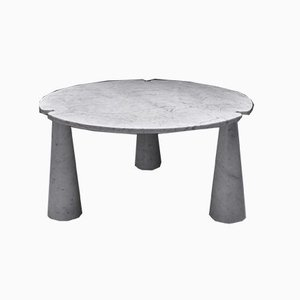 Round Vintage Marble Eros Dining Table by Angelo Mangiarotti