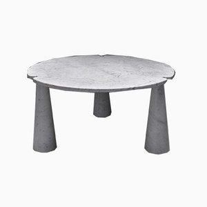 Table de Salle à Manger Ronde Eros Vintage en Marbre par Angelo Mangiarotti