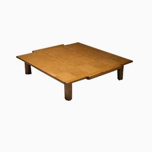Vintage Italian Square Oak Coffee Table