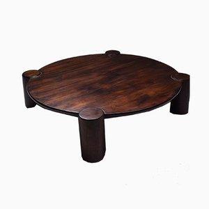 Large Round Mid-Century Brazilian Coffee Table