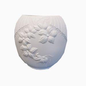 Vintage German White Cookie Jar by M Frey for Kaiser