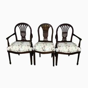 18th Century Dining Chairs by Henri Jacob, Set of 3