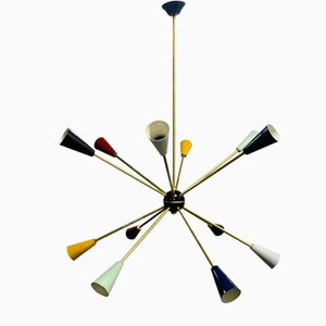 Sputnik Ceiling Lamp from Stilnovo, 1950s