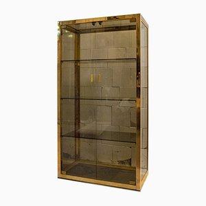 Italian Brass & Glass Sideboard, 1970s