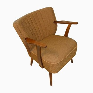 Brown Club Chair with Armrests, 1950s