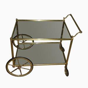 Brass & Glass Bar Cart, 1960s