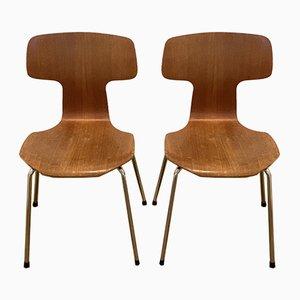 Chaises Hammer 3103 par Arne Jacobsen pour Fritz Hansen, 1960s & 1980s, Set de 2