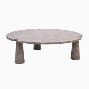 Tavolino da caffè Eros grande rotondo in marmo di Angelo Mangiarotti per Skipper, anni '70