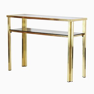 Iron & Glass Console Table, 1970s