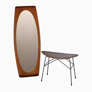 Vintage Mirror & Stool by Campo e Graffi, 1960s, Set of 2