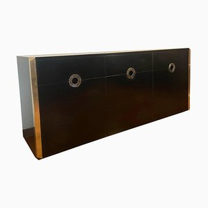 Black Sideboard by Willy Rizzo for Mario Sabot, Italy, 1974