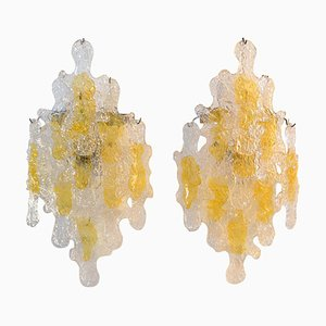 Mid-Century Wall Sconces from Mazzega, Italy, Set of 2