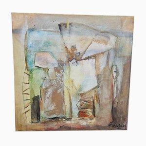 Peinture Abstraite, Huile sur Toile