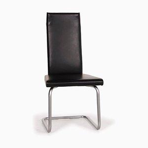 Black Leather Chair by Ronald Schmitt