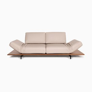 Aura Cream Leather Sofa by Rolf Benz