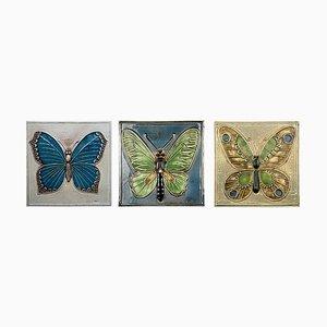 Keramikfliesen von Lisa Larson für Gustavson, 1970er, 3er Set