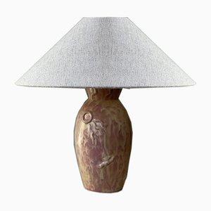 Lampada da tavolo Art Déco in gres di Anna-Lisa Thomson per Upsala-Ekeby, anni '30
