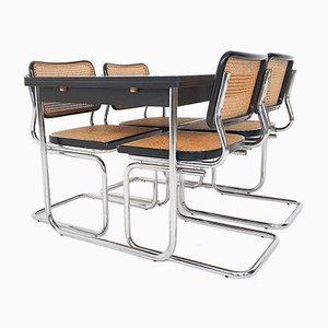 Dining Room Set in the Style of Marcel Breuer for Thonet, 1980s, Set of 5