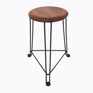 Tomado Metal and Wooden Model 550 Stool, The Netherlands